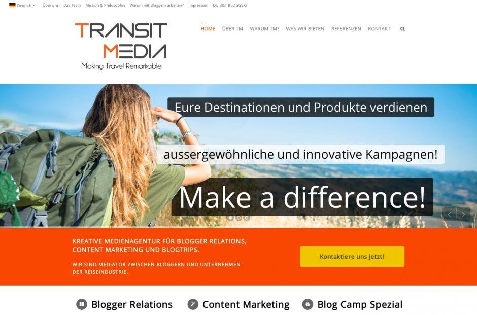 Screenshot Transit Media