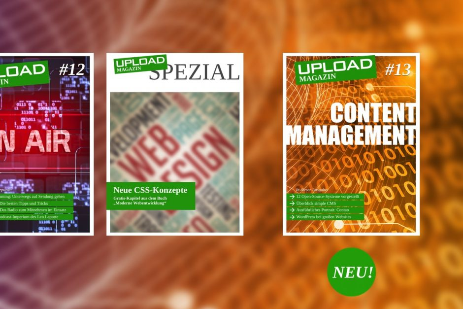 "UPLOAD Magazin #13 ""Content Management"""