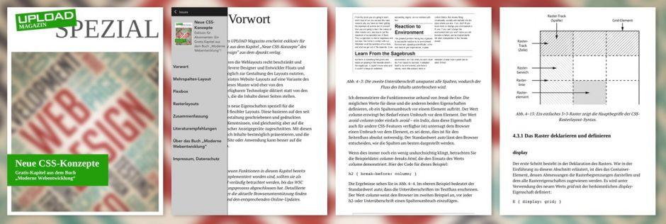 """Vorschau UPLOAD Spezial """"Neue CSS-Konzepte"""""""