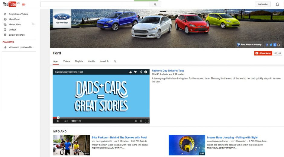 YouTube-Channel-Ford