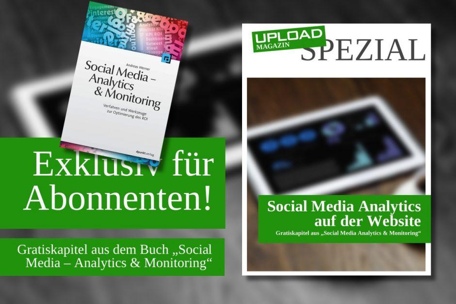 """UPLOAD Spezial """"Social Media Analytics auf der Website"""""""