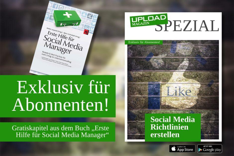 """UPLOAD Spezial """"Social Media Richtlinien"""""""