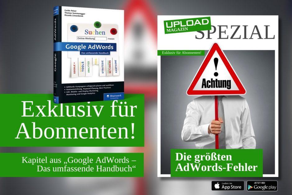 """UPLOAD Spezial """"Die größten AdWords-Fehler"""""""