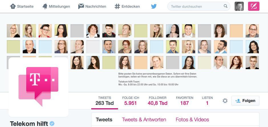 Service in 140 Zeichen: Die Deutsche Telekom praktiziert das bereist seit 2010.