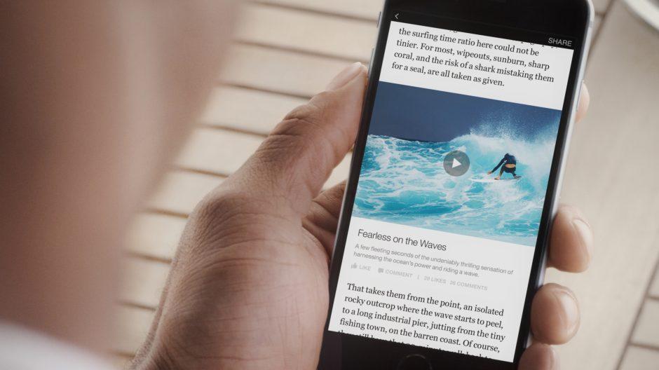 Videos werden automatisch geladen und abgespielt, wenn der Leser die Stelle erreicht (Bild Facebook).