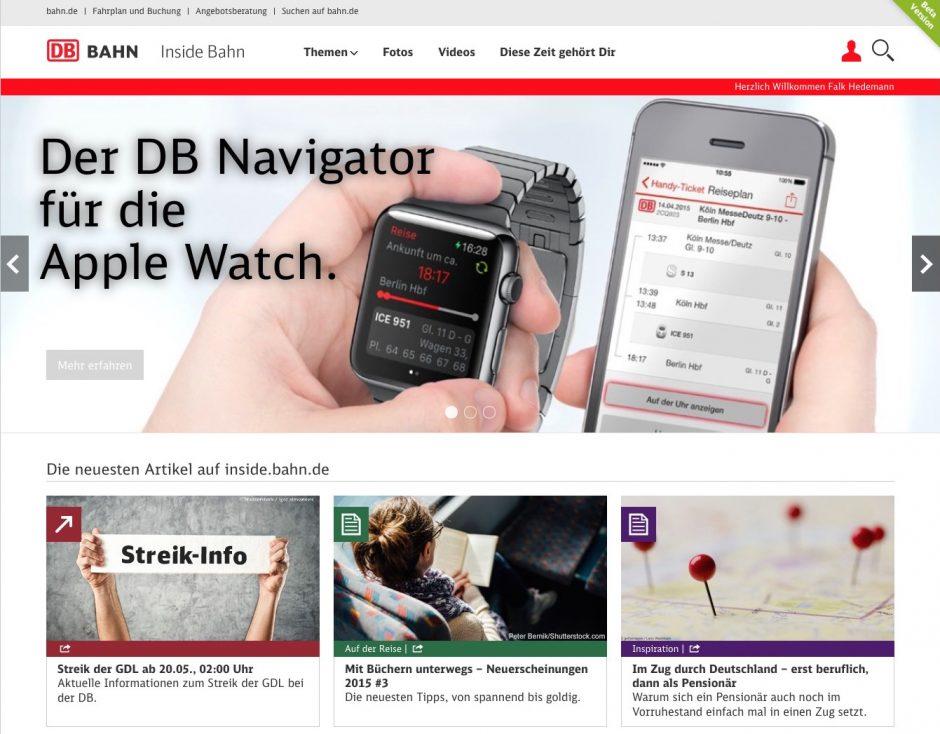 Bei inside.bahn.de geht es um Inspiration, Hintergründe und Geschichten von, für und mit Bahnreisenden.
