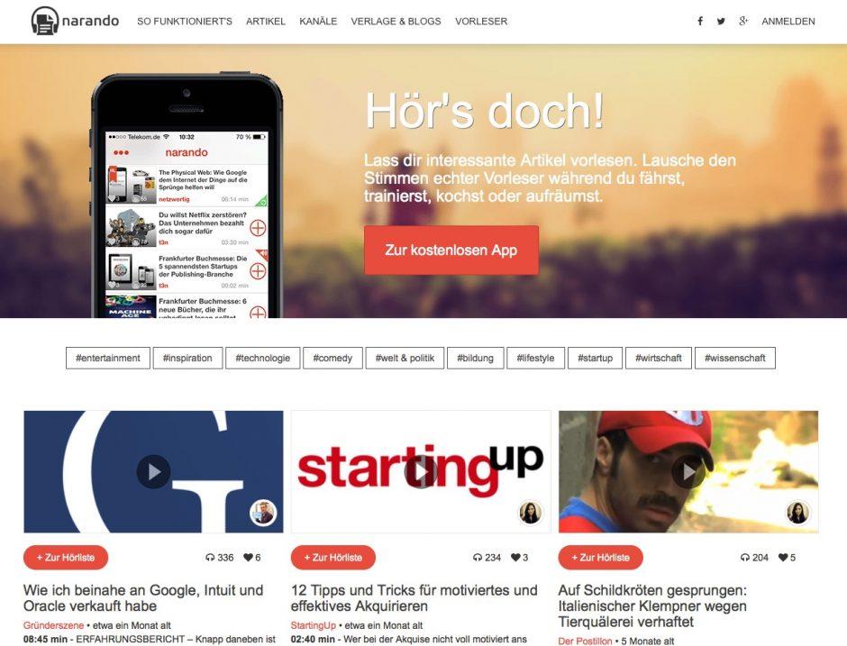 Website von narando