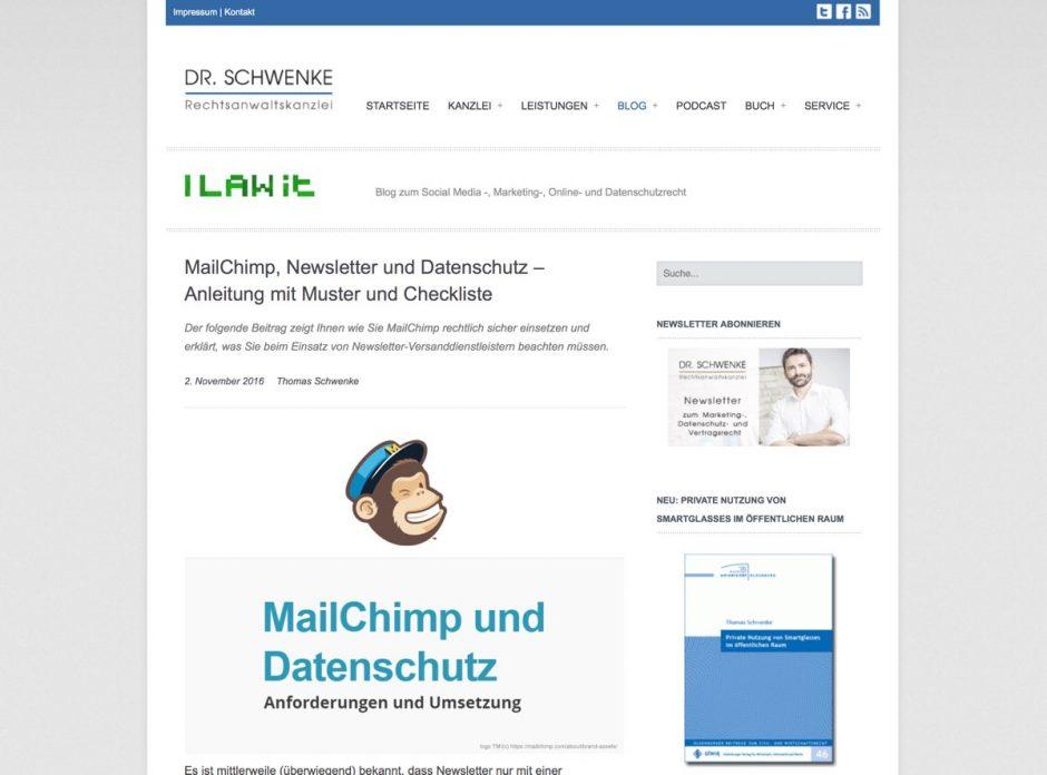Das Blog von Rechtsanwalt Thomas Schwenke