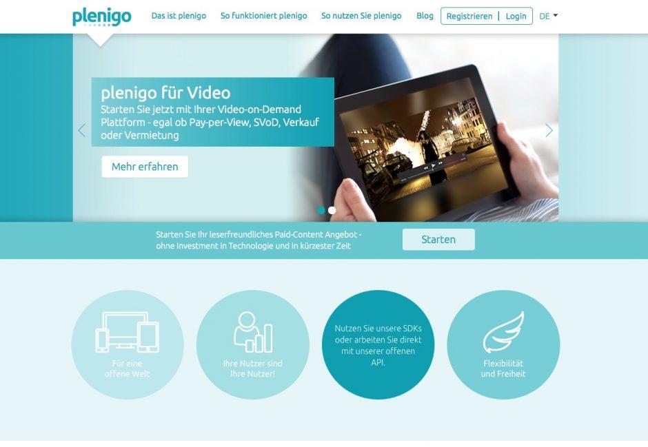 Website von plenigo.