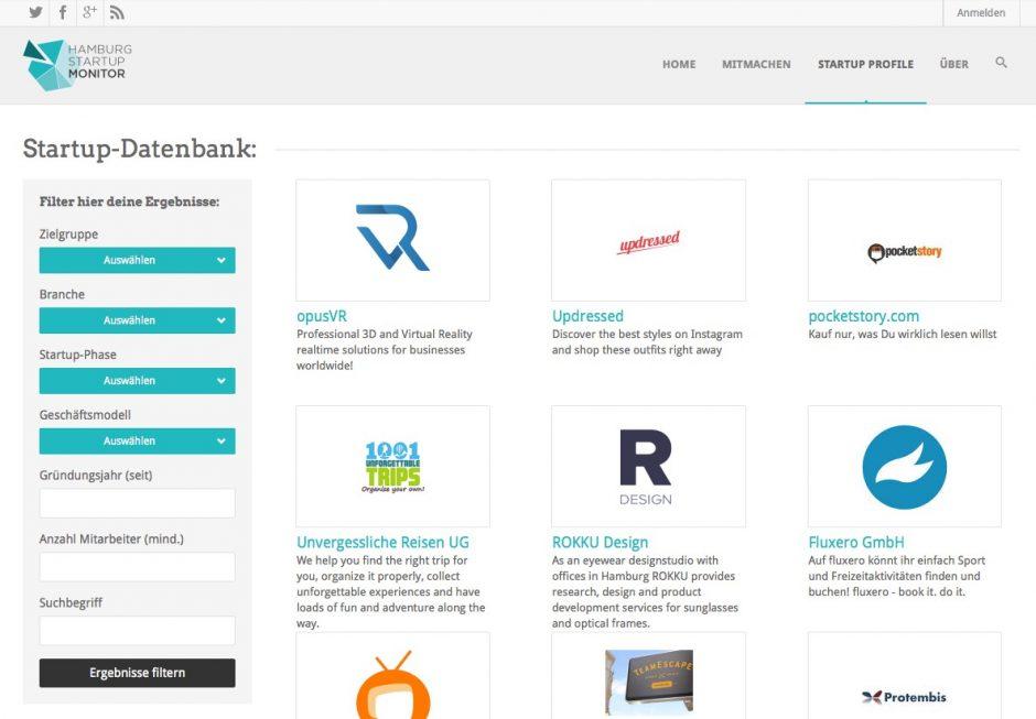 Wachsendes Verzeichnis der Szene: der Hamburg Startups Monitor
