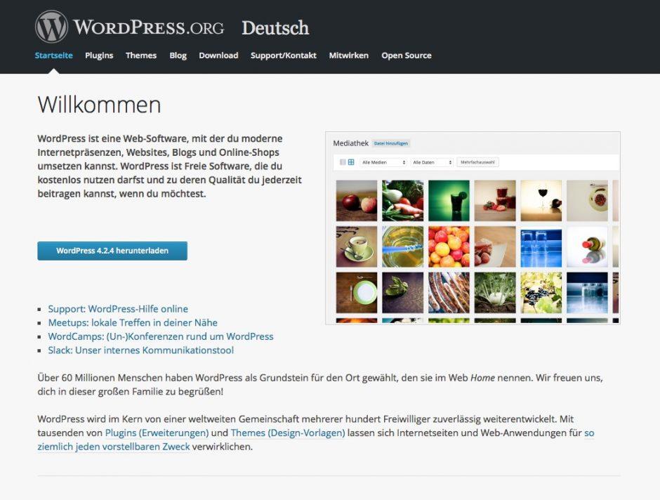 Für die Website ist bei uns das allseits beliebte WordPress zuständig.