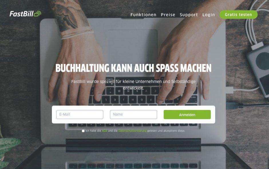 Website von FastBill