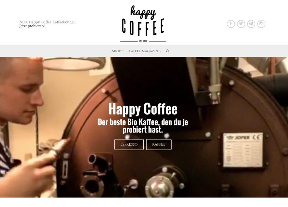 Website von Happy Coffee