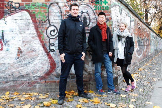 Die Gründer Alexander Schulze, Johnathan Teh und Nadine Achilles.