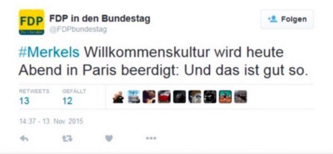 Ein geschmackloser Tweet der FDP? Nein, eine Fälschung.