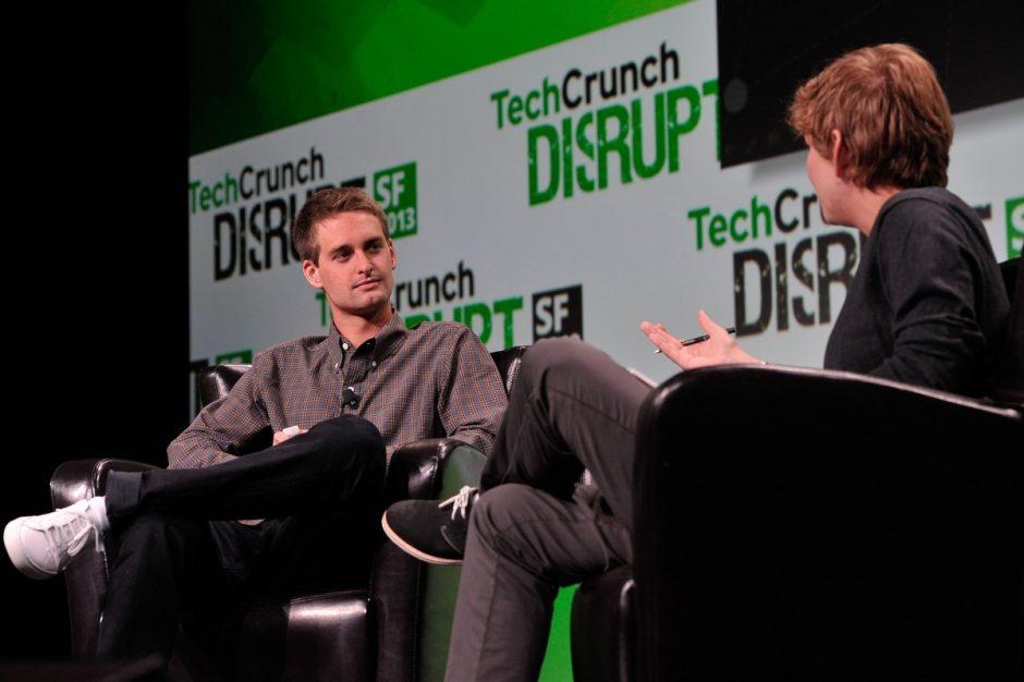 Snapchat-CEO Evan Spiegel auf der Bühne von TechCrunch Disrupt. (Foto: TechCrunch, flickr.com. Lizenz: CC BY 2.0)