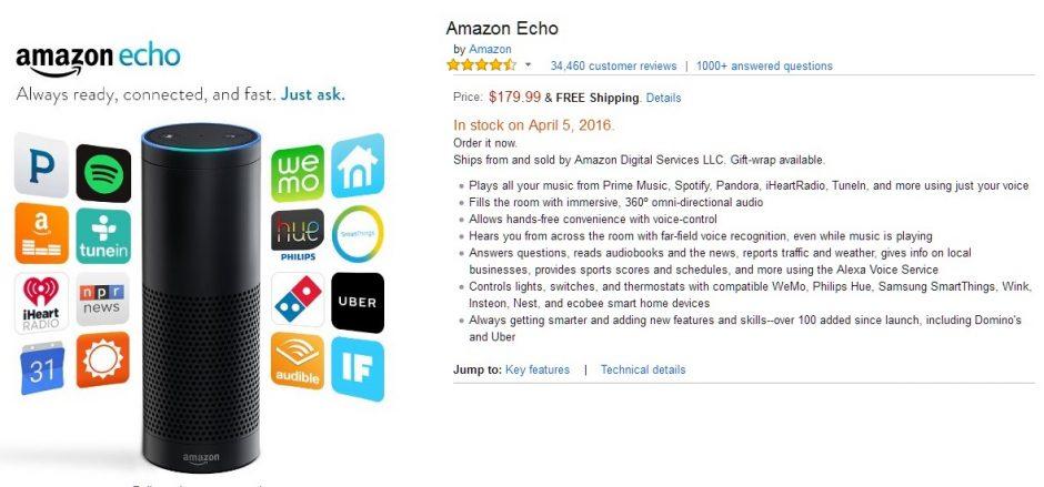 Bislang nur in den USA zu haben: Amazons Echo.