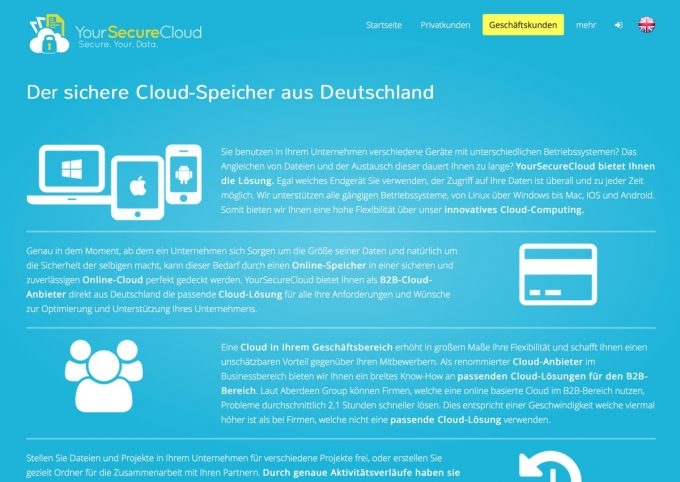 Website von Your Secure Cloud