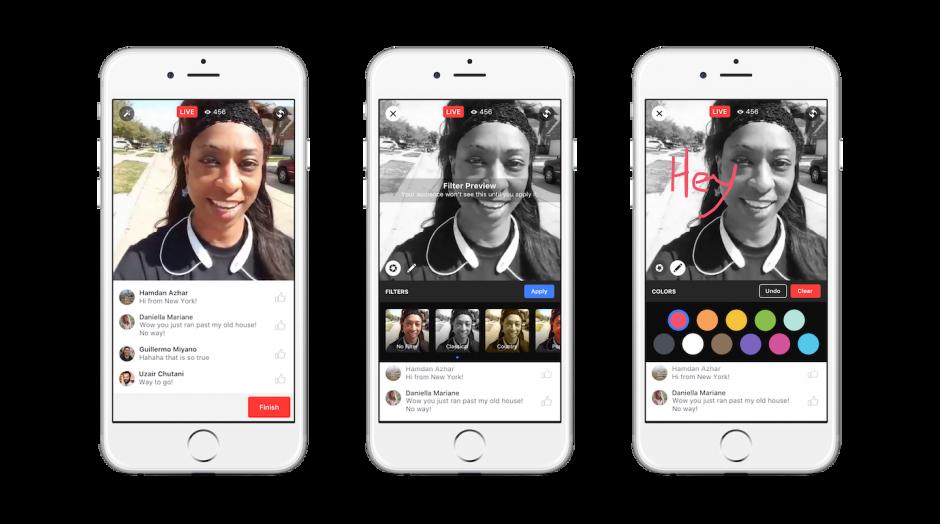 Mit den angekündigten Kreativfiltern macht Facebook Live Anleihen bei Snapchat.