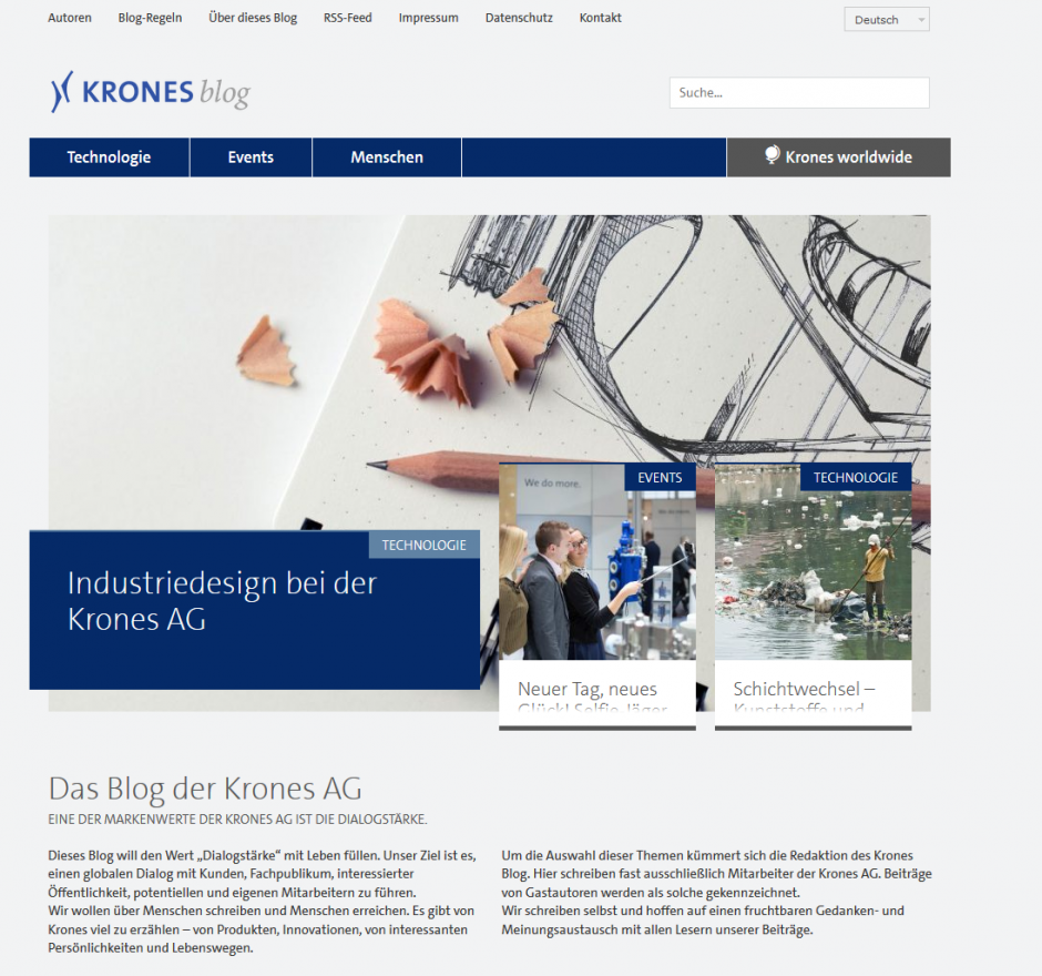 Das Blog der Krones AG - Dialogstärke als Markenwert gelebt