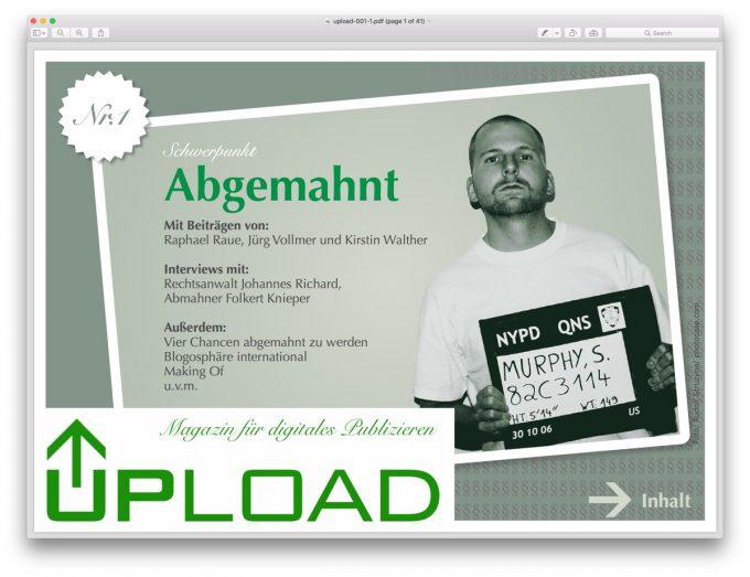 Cover der ersten Ausgabe des PDF-Magazins 2007.