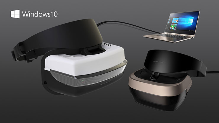 Preisgünstige VR-Brillen für Windows 10 - ab 2017. (Foto: Microsoft)