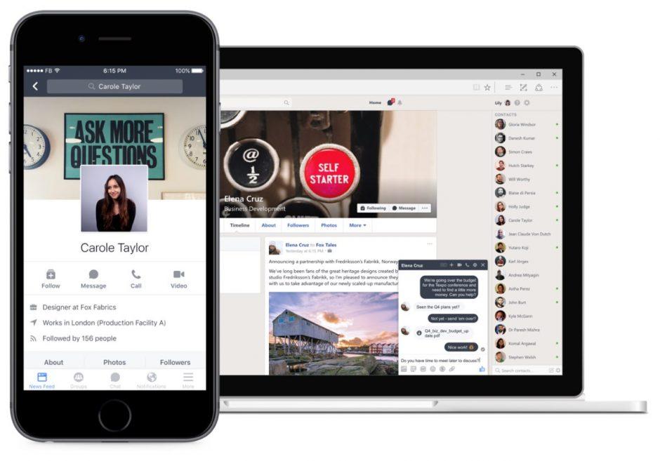 Workplace by Facebook ist ein Social-Intranet-Angebot für Unternehmen. (Foto: Facebook)