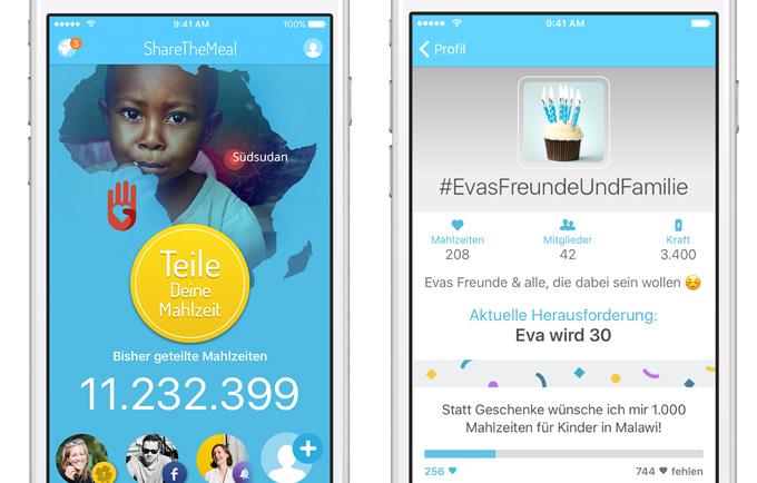 Dank der App Share The Meal konnten schon Millionen hungernder Kinder mit Essen versorgt werden (Bild: World Food Programme)
