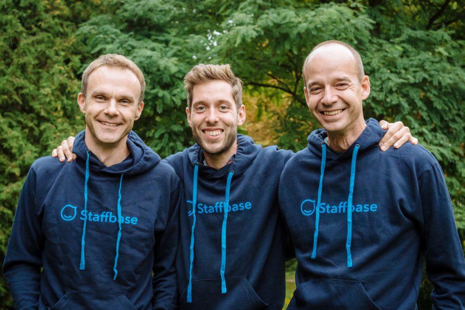 Staffbase-Gründer Frank Wolf, Martin Böhringer und Lutz Gerlach (v.l.n.r.)