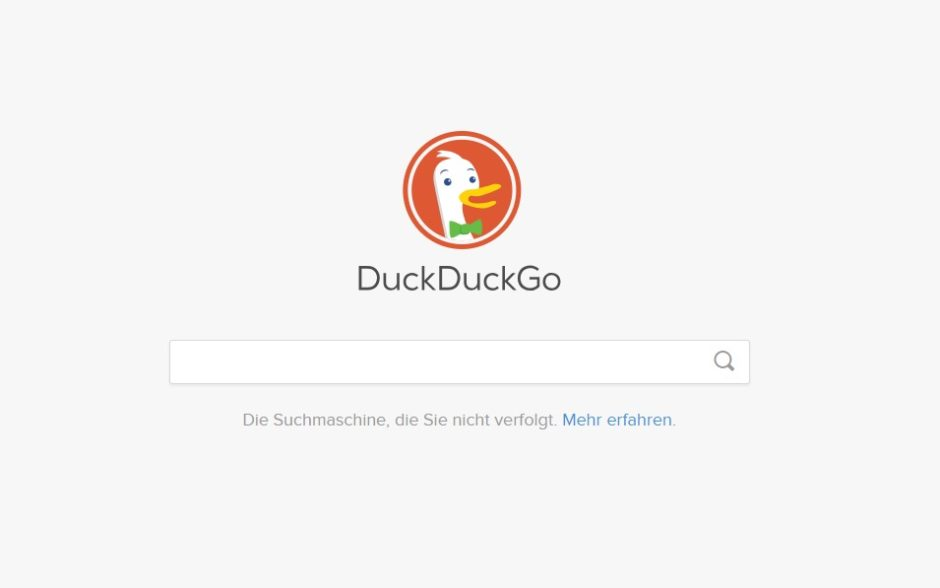 Screenshot DuckDuckGo