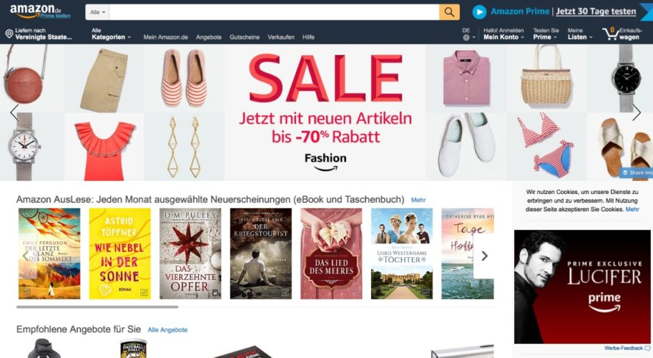 Screenshot Amazon