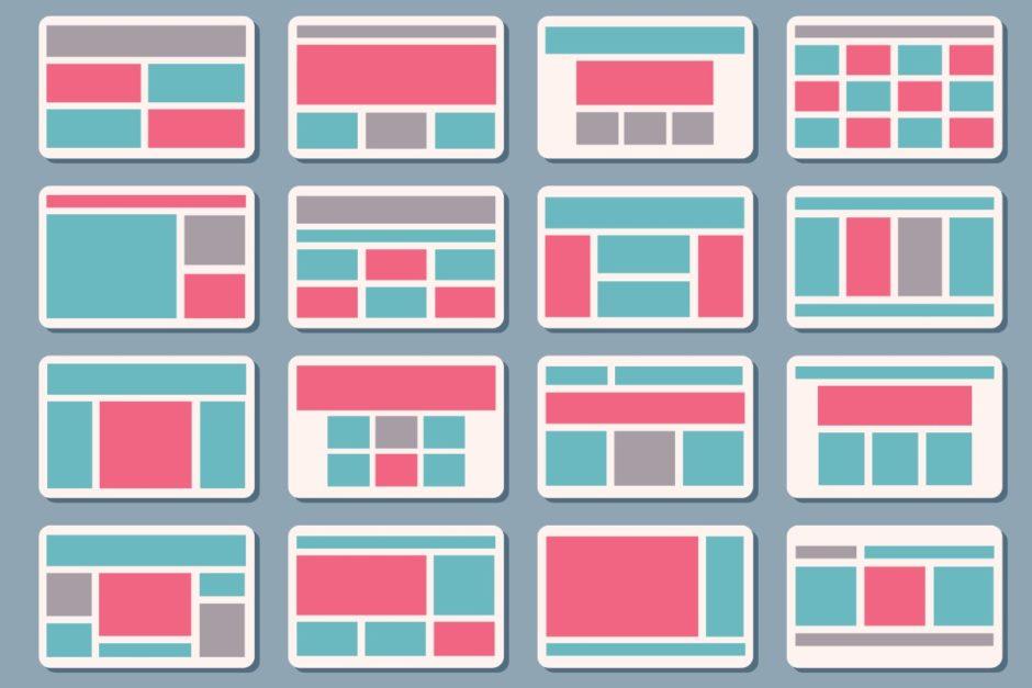Symbol Website-Strukturen