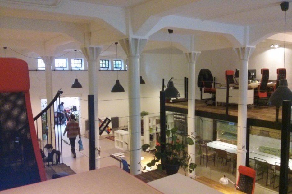 """Blick in einen Coworking Space in Amsterdam (""""Thinking Hut"""")"""
