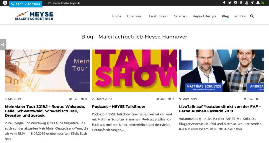 Maler Heyse Blog
