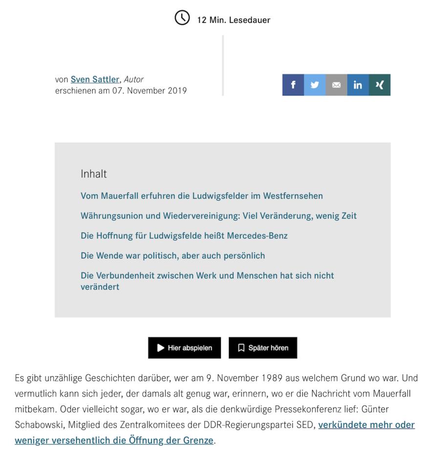 Daimler-Magazin Artikelansicht