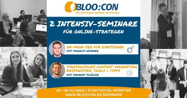BLOO:CON Seminare