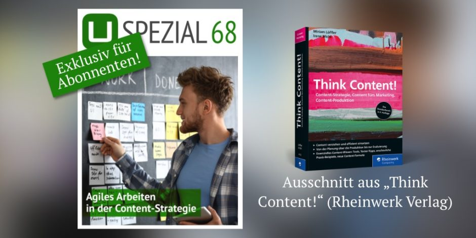 UPLOAD Spezial 68: Agiles Arbeiten in der Content-Strategie