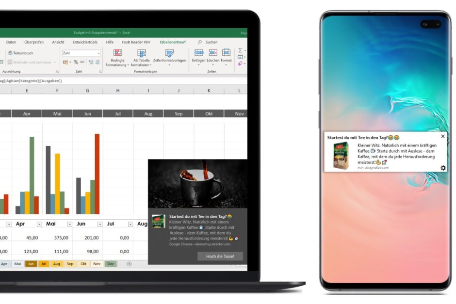 Push Notification auf Desktop und Smartphone