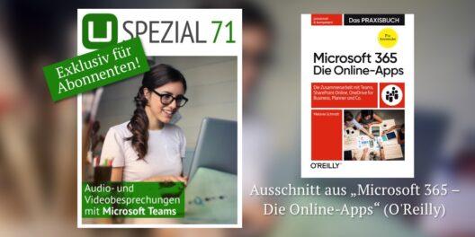 Neues Spezial: Audio- und Videobesprechungen mit Microsoft Teams